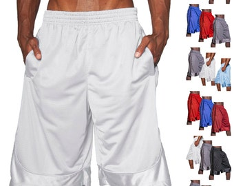 SK Mens Mesh Shorts Light-Weight Athletic Fitness Gym Sports Work Out S-5XL