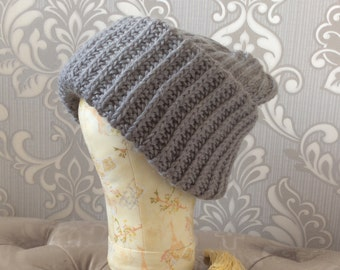 Knitted cap, warm cap, takori cap, volume cap, knitted hat, hat with two tops, a mohair hat