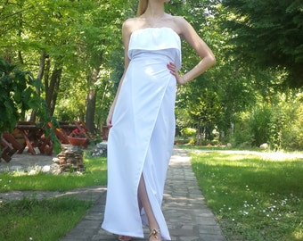 white cotton maxi, white cotton dress, summer white dress, womens summer dress, white wedding dress, dresses for women, long evening dress