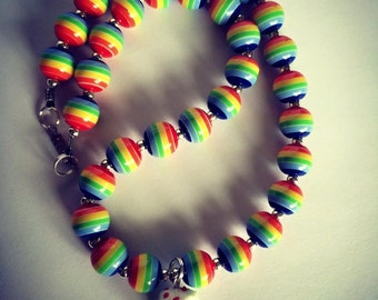 FREE Shipping Rainbow Bead and Realistic Cake Necklace