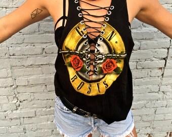 Guns n Roses Lace Up Tank