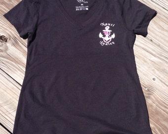 Nauti Ladiez Black V-Neck Shirt