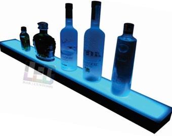 "64"" Led Lighted shelf bottle display"