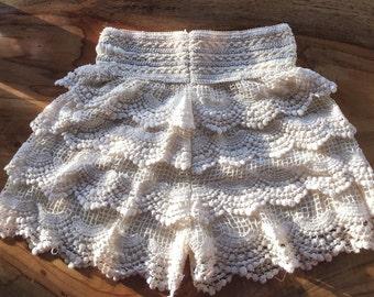 High-Waisted Layered Shorts