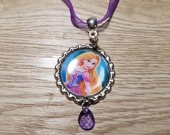 10 Lavender Necklaces Party Favors. Rapunzel