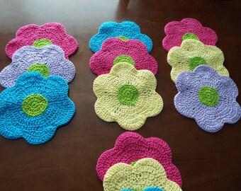 Flower Power Dishcloth set
