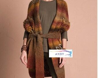 Woman, Artist Knitting Cardigan