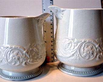 """Antique Wedgewood """"Patrician"""" Pitchers"""