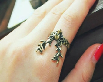 Ring head of stag / Deer head ring