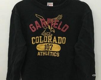 Vintage 90's Champion Garfield Design Sweat Shirt Sweater Varsity Jacket Size M #A57
