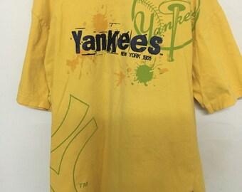 Vintage 90's Major League Baseball Yankees New York 1901 Design Shirt Size XL #B32