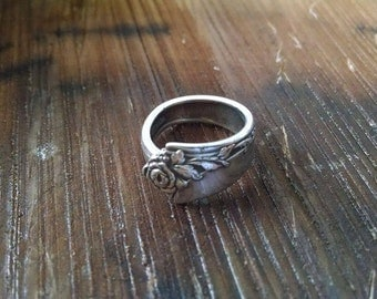 Vintage Sterling Spoon Ring Sz. 9 8g.