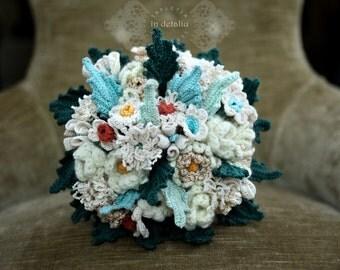 Handmade crochet wedding bouquet