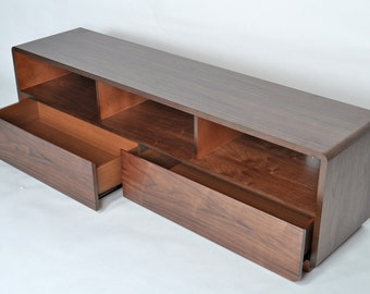 Mid Century Modern Media TV Stand with Drawers
