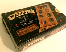 Vintage MANCALA Game with Hinged Wooden Board - Cardinal Factory Sealed