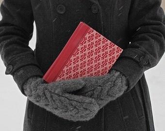 Book Love - book photograph - winter snow art photo girl woman female person portrait
