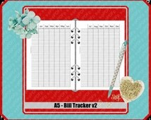 A5 - undated bill tracker v2 // 1print-1fold-Done // Duplex // double sided