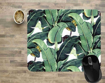 Computer Mouse Pads, Mouse Pads, Floral Mouse Pads, Ready To Ship, Banana Leaf Mouse Pad, Mouse Pad, Rectangle Mouse Pad