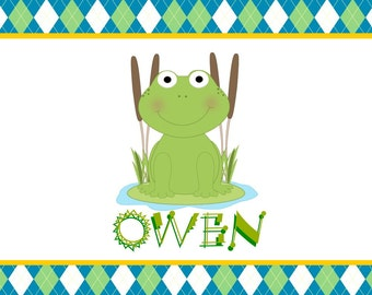 Frog Personalized Placemats
