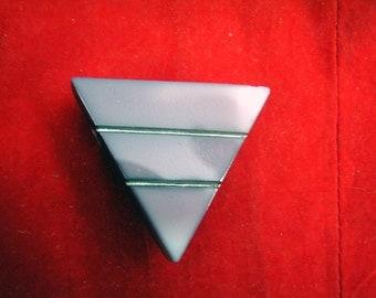 Czech glass brooch pin geometric modernist