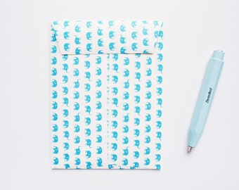 Blue Elephant - Ready to use - Handmade Envelope