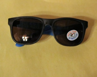 Vintage Rubber Framed Sunglasses, with U.V. Protection, Classic 80's style