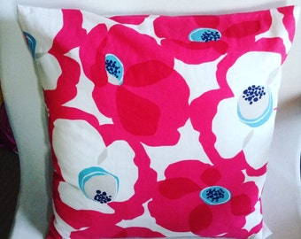 Big bold and vibrant pink poppies, cushion/pillow cover