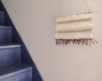 Cream and White  Fringeless Tapestry