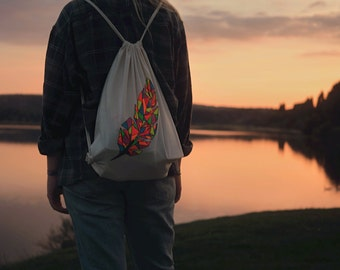 Canvas tote bag - Feather