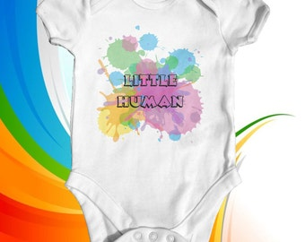 Little Human baby bodysuit | cute baby clothes | baby shower gift | funny baby bodysuit | newborn baby clothes | Adorable baby outfit