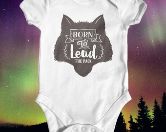 Wolf Pack Leader Baby Bodyusuit | Baby Shower Gift | Cute Baby Clothes | Boho Baby Clothes | Alpha Baby Bodysuit | Tribal Baby Clothes