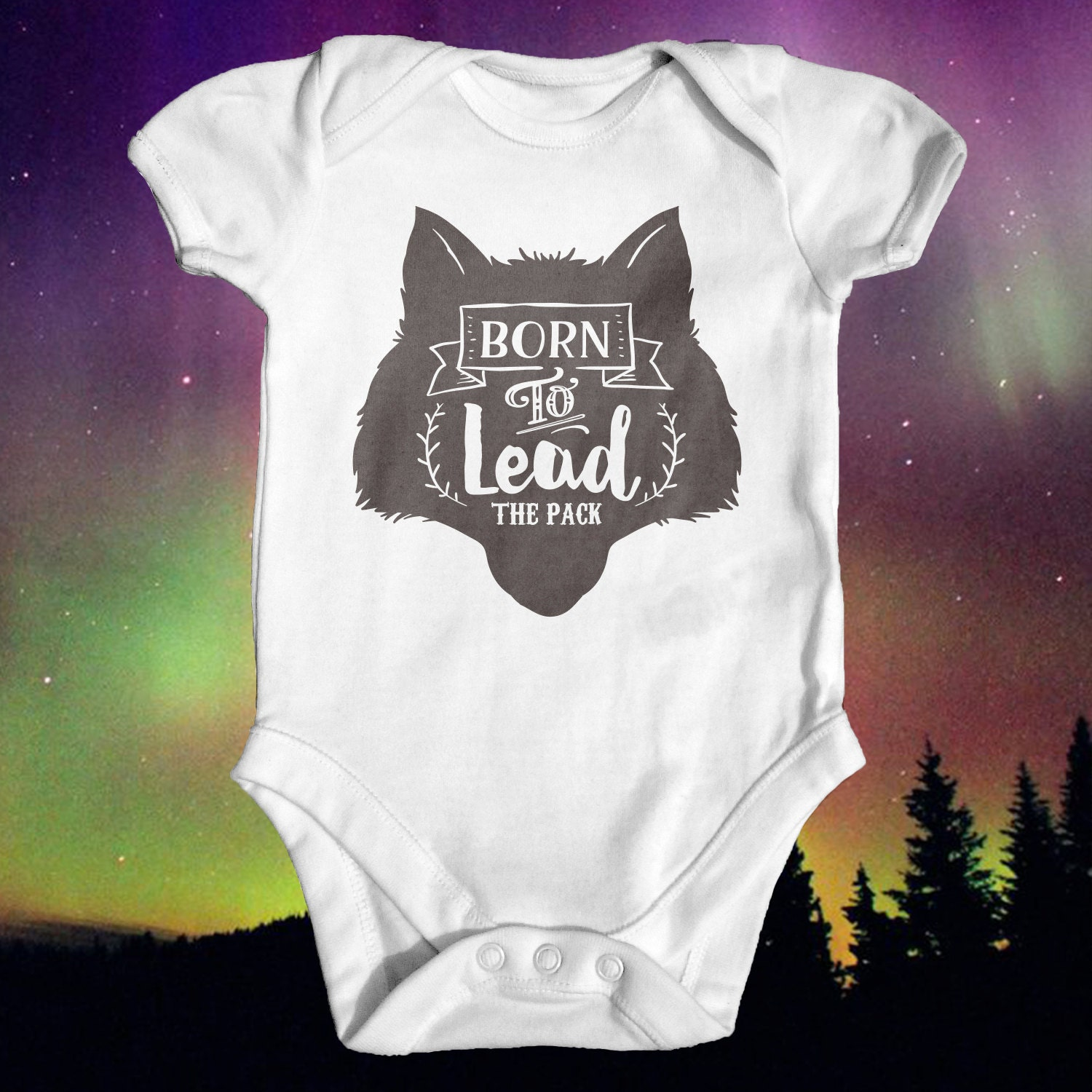 Wolf Pack Leader Baby Bodyusuit Baby Shower Gift Cute Baby
