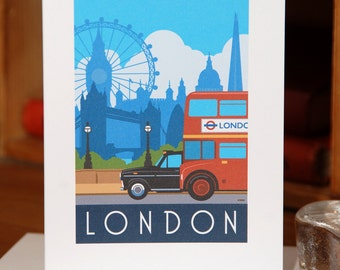 Greetings Card of the iconic landmarks  of London