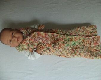 Baby sleeping bag cocoon knit Merino Wool knit 60 cm sleeping bag