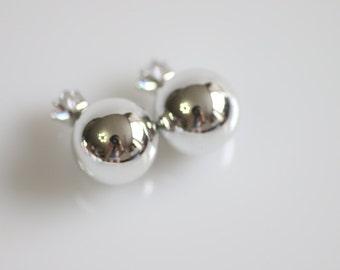 Mirrorball earrings_silver