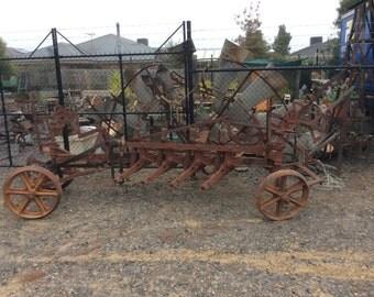 Vintage plough - garden ornament