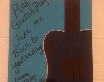 Play, guitar play painting