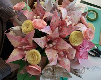 Origami Spring Wedding  Bouquet