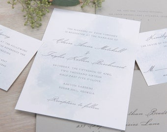The Lotus Wedding Collection by Paper Daisies, Invitation Suite, Whimsical, SAMPLE SET