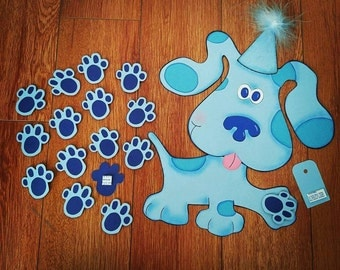 Pin the Paw on Blue Dog Blue's Clues