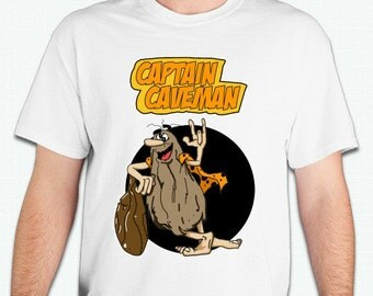 Captain Caveman Tshirt Old cartoon shirt vintage