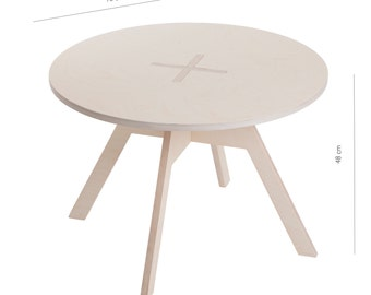 Small round table, white