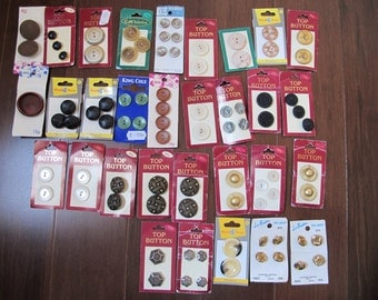 Large collection of buttons