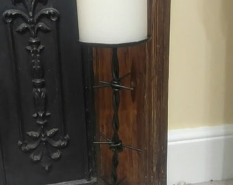Hand made barb wire candle stick