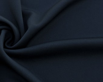 Lightweight Ponte de Roma Fabric (Wholesale Price Available By The Bolt) Made in USA Premium Quality - 1093 Black- 1 Yard