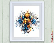 Marvel Super hero Squad Wolverine digital poster, Wolverine print, Wolverine print nursery superhero poster, nursery superhero printable