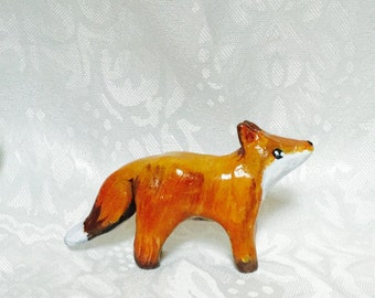 Red fox miniature figurine