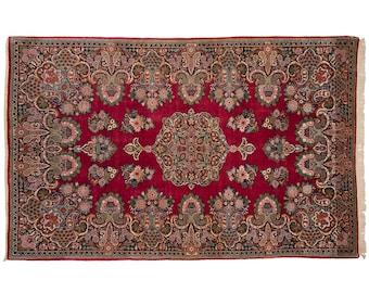 5x7 Sarouk Hand Knotted Oriental Rug - 020239