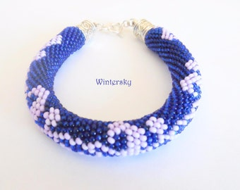 Bead crochet bracelet small rope lariat браслет
