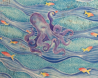 Octopus in the waves